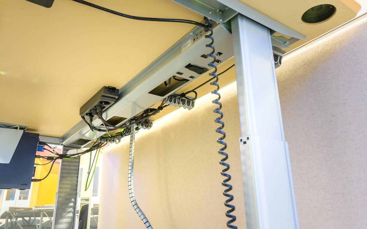 Kabelmanagement in uitvoering