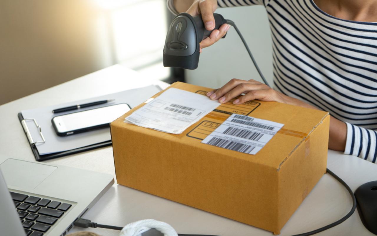 Barcode shipment label