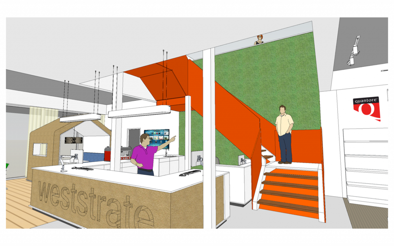 Weststrate kantoorspecialist tekening nieuwe receptie