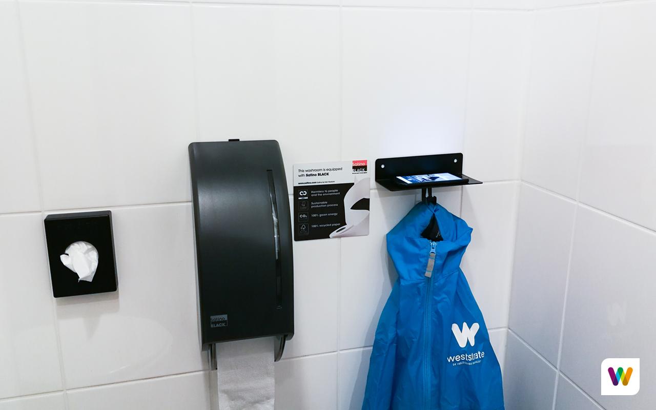 Smartphonehouder toilet