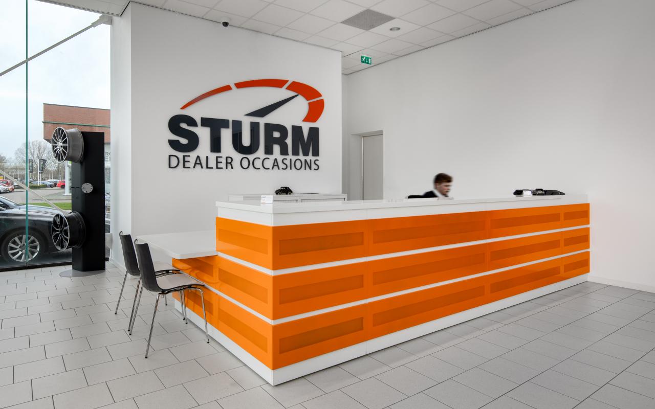 Auto Sturm balie projectinrichting Weststrate