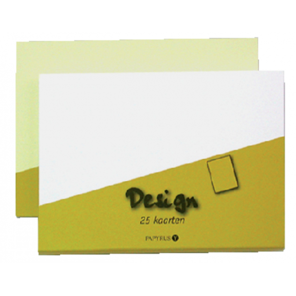 Dubbele kaart papyrus design 105x148 wit