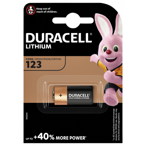 Batterij duracell 123a ultra m3 foto lithium