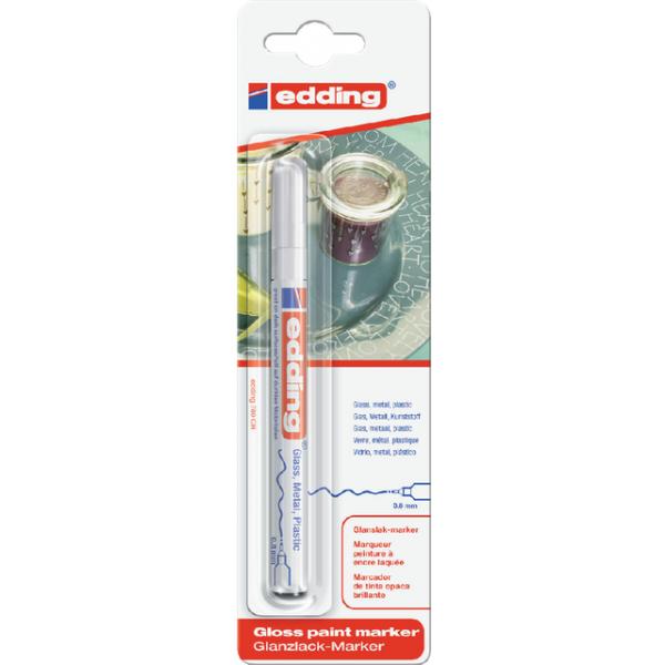 Viltstift edding 780 lak perm rond 0.8mm wit