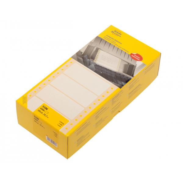Etiket avery zweck 5106 101.6x35.7mm 1baans 4000st