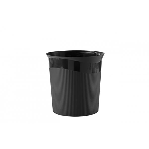 Papierbak han re-loop 13 liter rond zwart(ha-18148-913)