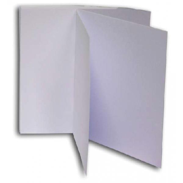 Dubbele kaart papyrus design 260x130 wit