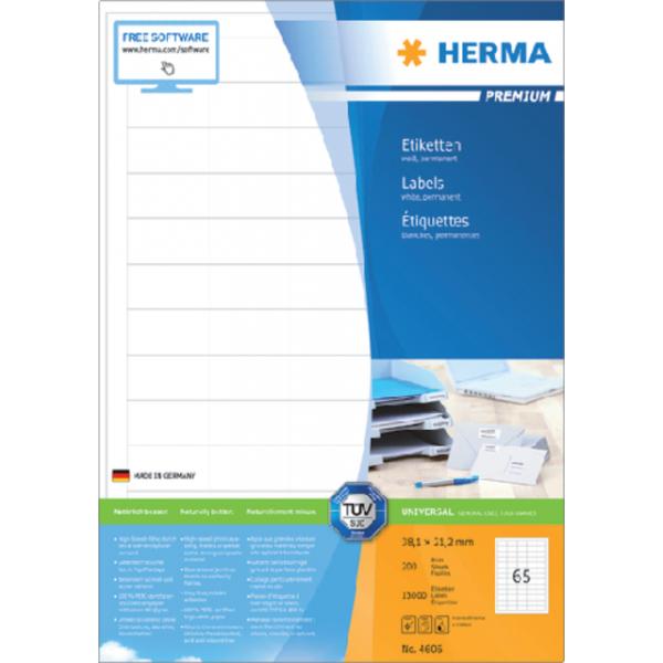 Etiket herma superprint 4606 38.1x21.2mm 13000st