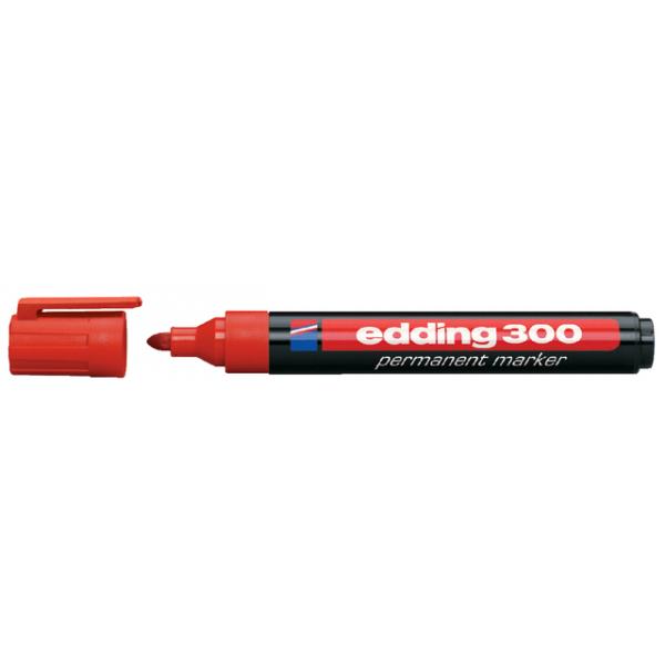 Viltstift edding 300 perm rond 1.5-3mm rood