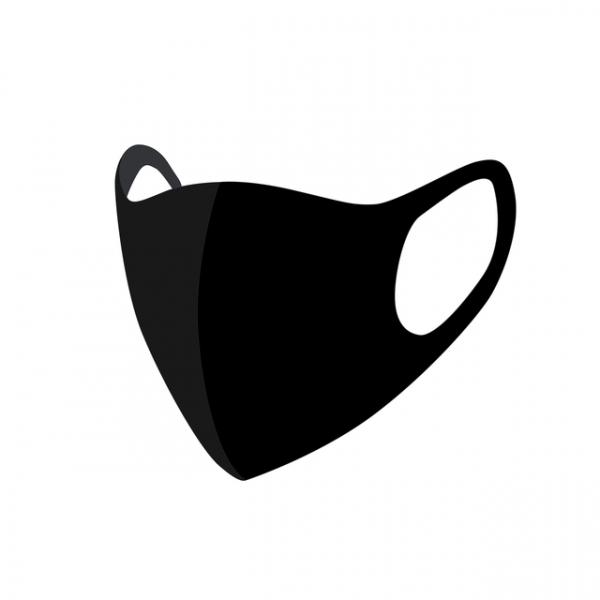 Mondkapje uitwasbaar zwart(8712048323585)