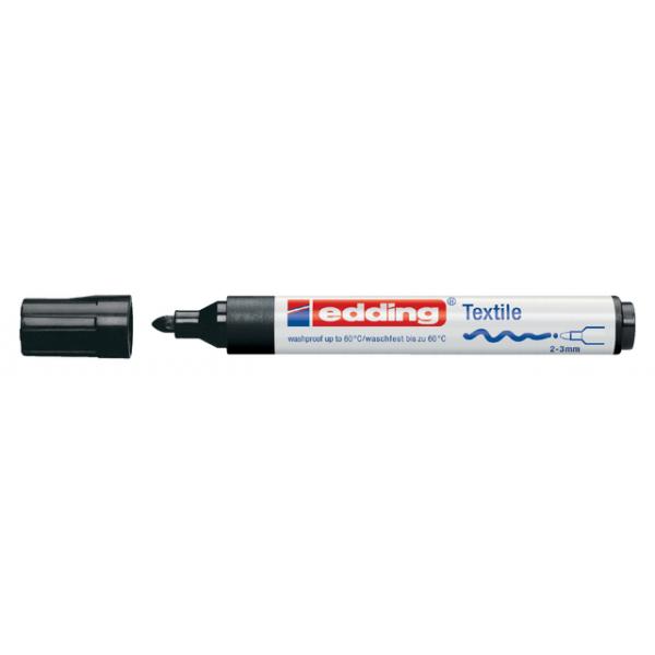 Viltstift edding 4500 textiel rond 2-3mm zwart