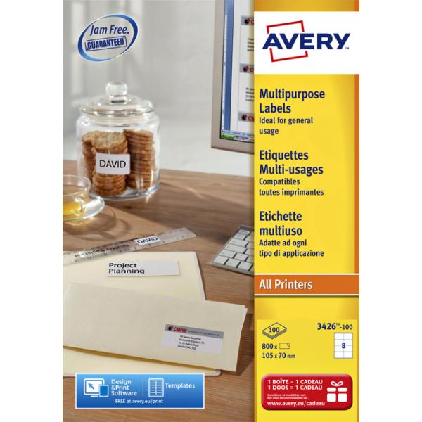 Etiket avery l4745rev-25 96x63.5mm 200st