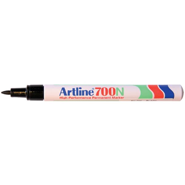 Viltstift artline 700 perm rond 0.7mm zwart