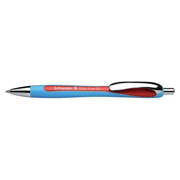 Balpen schneider slider rave blauw/rood(s-132502)