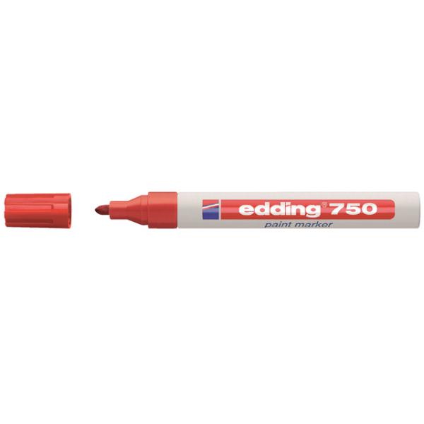 Viltstift edding 750 lak rond 2-4mm rood(840002)