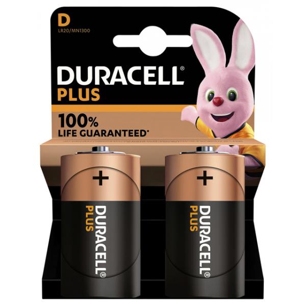 Batterij duracell plus d 2st(5000394141988)