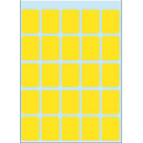 Etiket herma 3661 15x20mm 125st geel