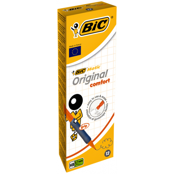 Vulpotlood bic matic grip office 0.7mm 3x9cm stift