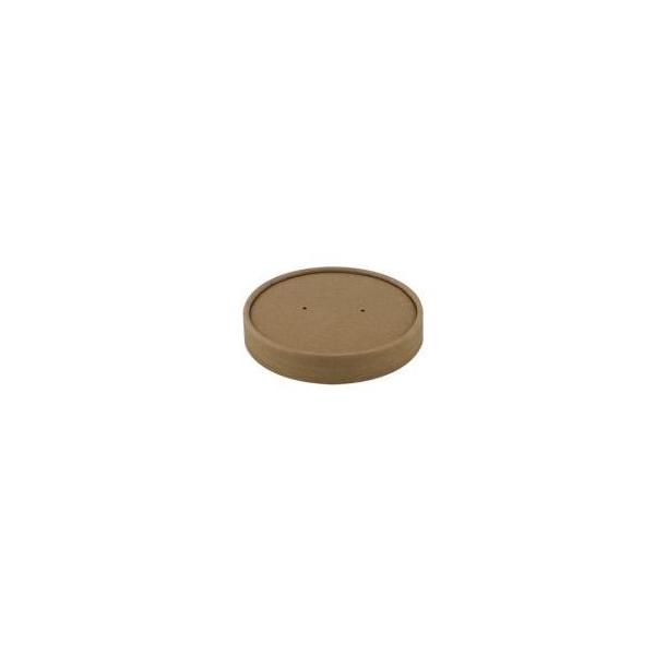 Kartonnen deksel, soepbeker, 950ml, kraft. PLA (25 stuks)