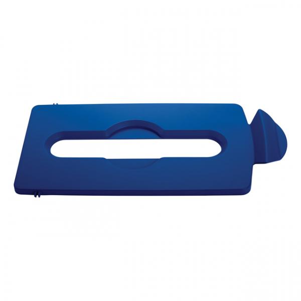 Deksel papier slim jim recyclingstation blauw(76237894)
