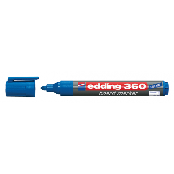 Viltstift edding 360 whiteboard rond 3mm blauw
