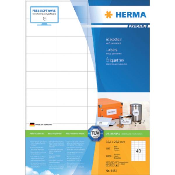 Etiket herma superprint 4461 52.5x29.7mm 4000st