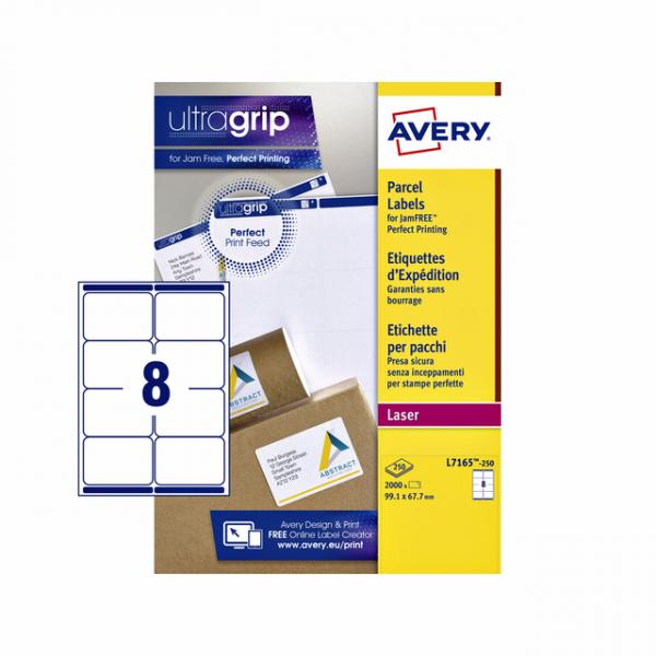 Etiket avery l7165-250 99.1x67.7mm 2000st
