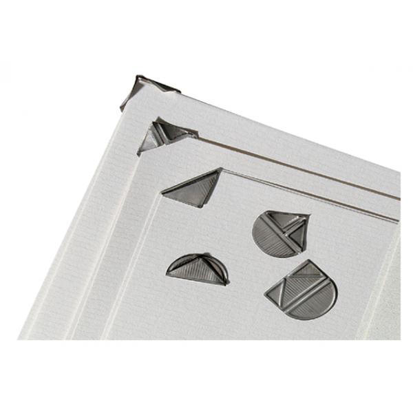 Hoekclips aluminium zilver