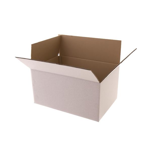 Kartonnen dozen, 390x290x85mm, B-golf, wit,