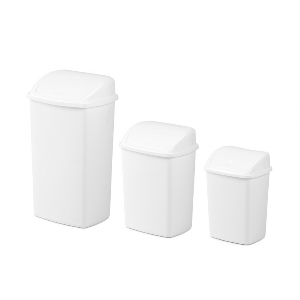 VB 200842 wit afvalbak kunststof 26 ltr
