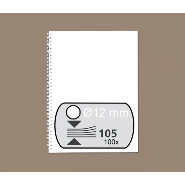 Draadrug fellowes 12mm 34rings a4 wit(53270)