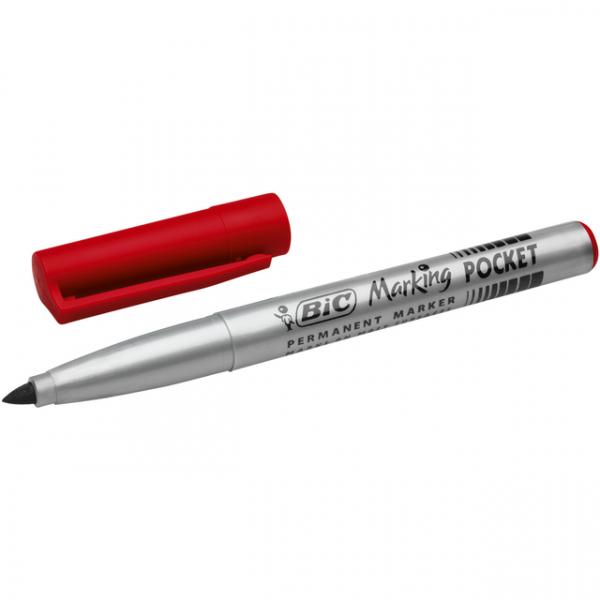 Viltstift bic 1445 pocket perm rond 1.5mm rd