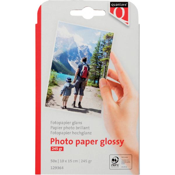 Inkjetpapier quantore 10x15cm 260gr glans