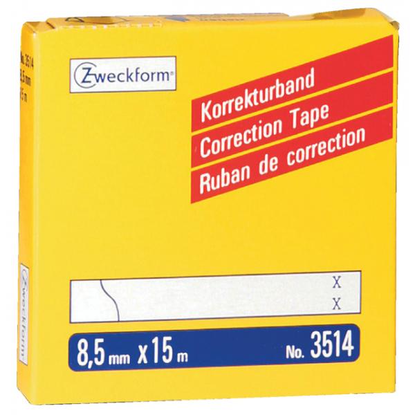 Correctietape zweckform 3514 8.5mmx15m 2regels(3514)