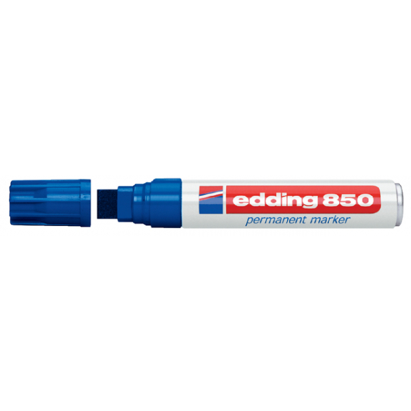 Viltstift edding 850 perm blokpunt 5-18mm blauw