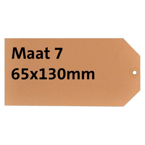 Label karton nr7 200gr 65x130mm chamois  ds/1000