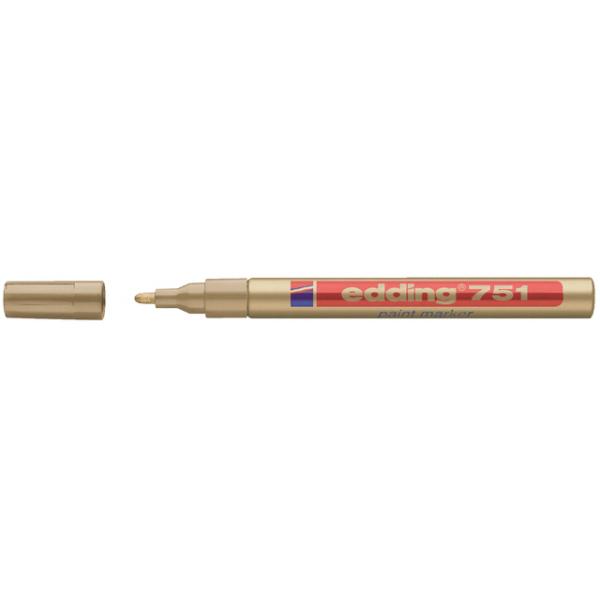 Viltstift edding 751 lak perm rond 2mm goud