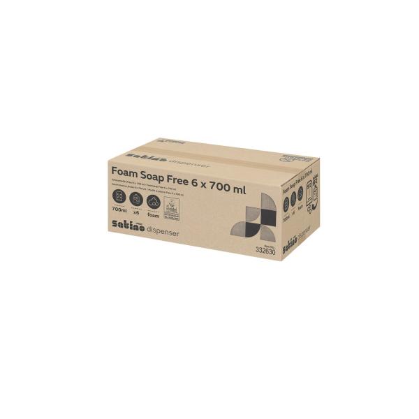 Satino, 332630, schuimzeep free, 700ml (6 stuks)