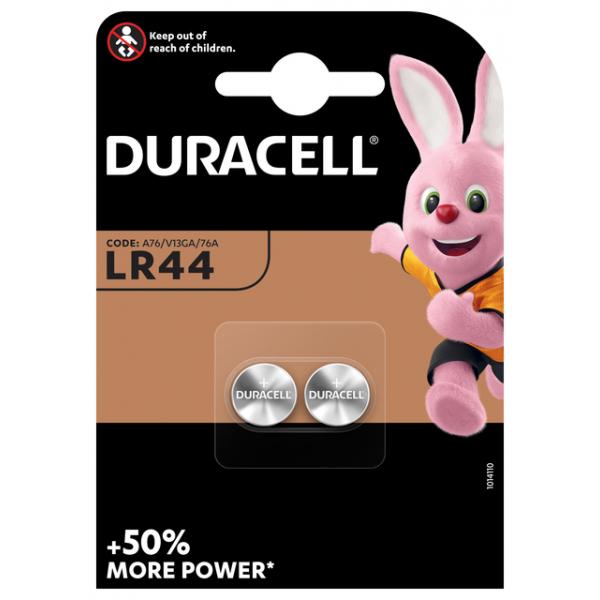 Batterij duracell lr44 knoopcel alkaline