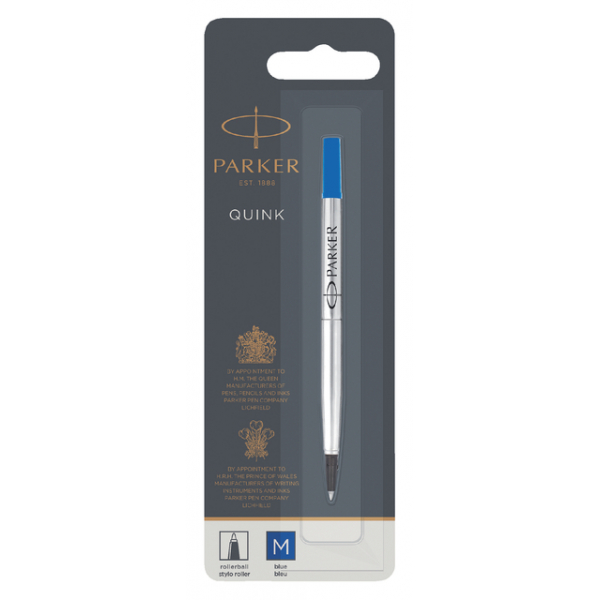 Rollerpenvulling parker 0.8mm medium blister blauw