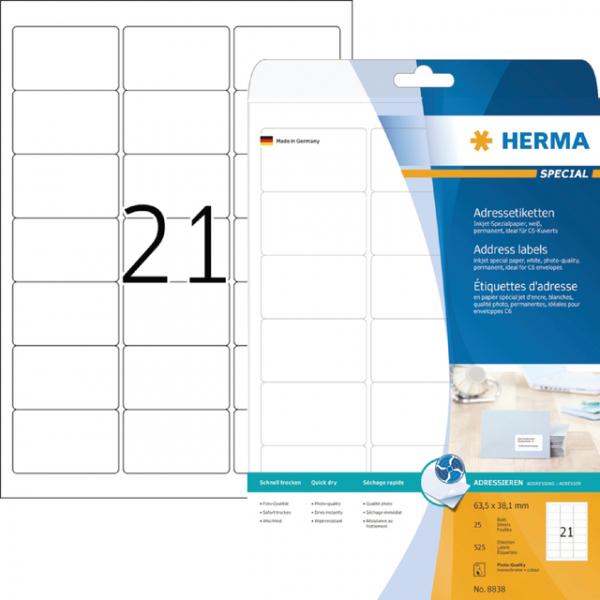 Etiket herma inkprint 8838 63.5x38.1mm 525st