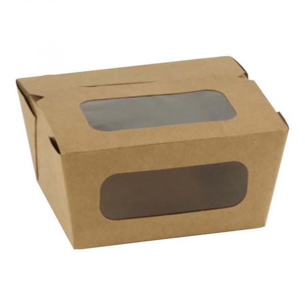 Take Away box, kraft, met venster, 110x90x63mm (450 stuks)