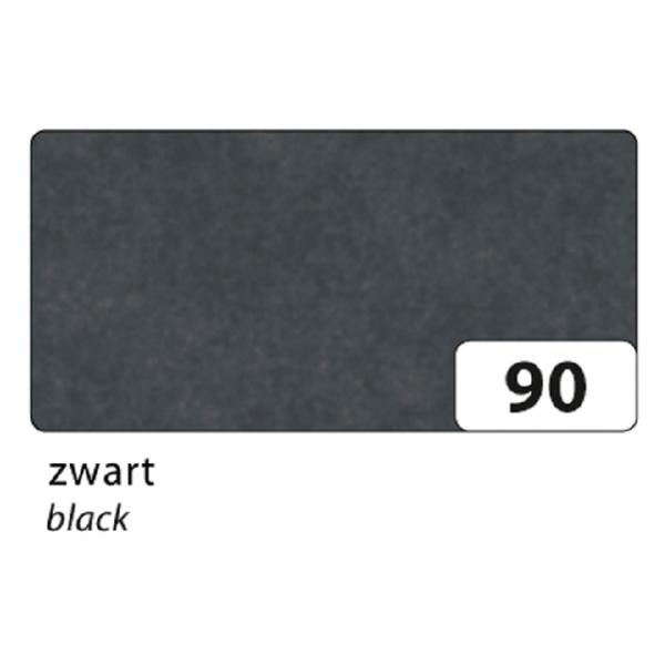 Zijdevloeipapier folia 50x70cm 20g nr 90 zwart(91090)
