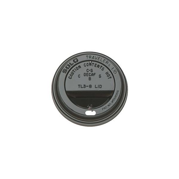 Deksel, travellid, 72mm, zwart (1000 stuks)