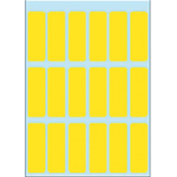 Etiket herma 3651 12x34mm 90st geel