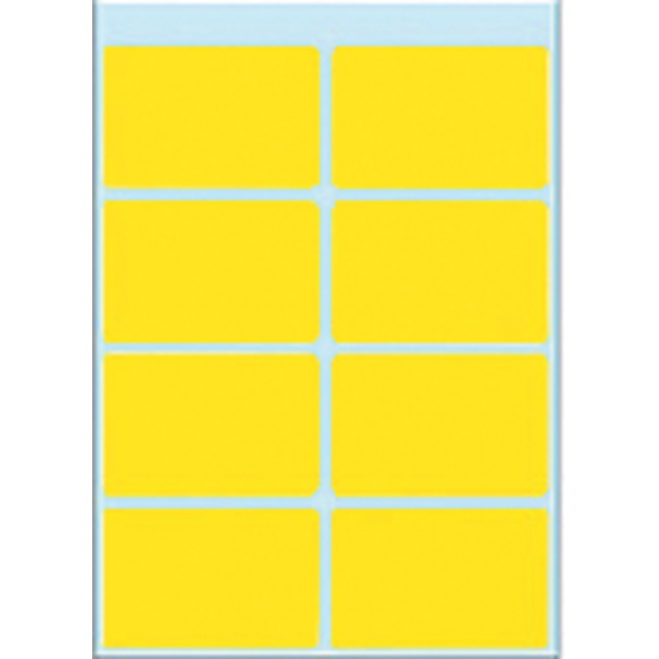 Etiket herma 3691 26x40mm 40st geel