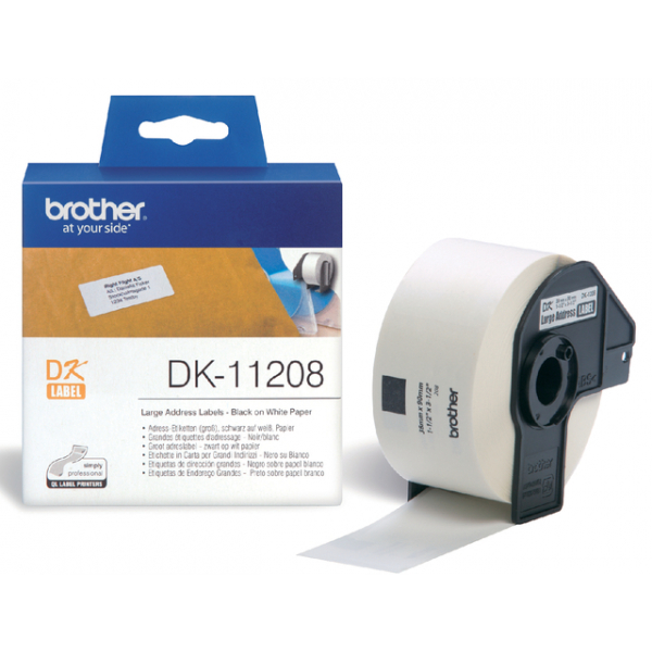 Etiket brother dk-11208 adres groot 38mmx90mm