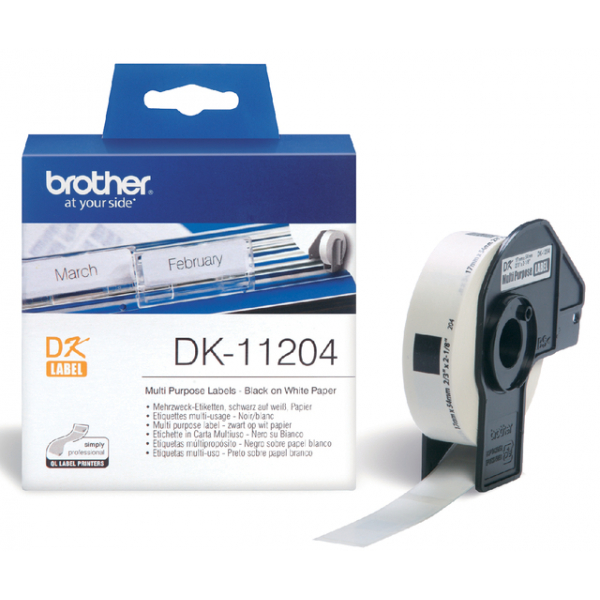 Etiket brother dk-11204 universeel 54mmx17mm