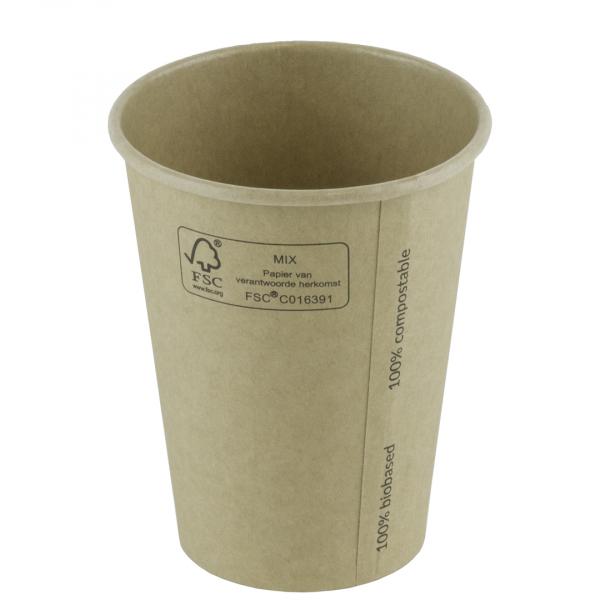 Kraft, koffiebeker, 12Oz, 90mm (1000 stuks)