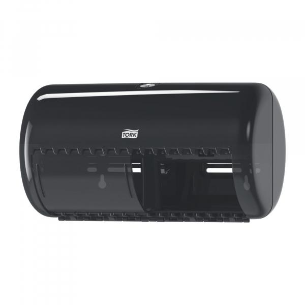 Tork, traditioneel toiletpapier dispenser, zwart, T4, 557008
